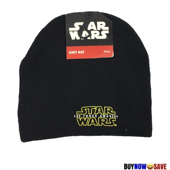 Star Wars Black Knit Hat NEW 824ec0e00250